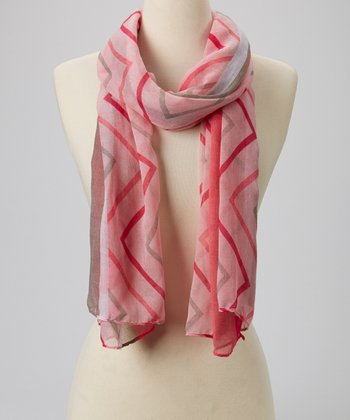 Pink Zigzag Scarf