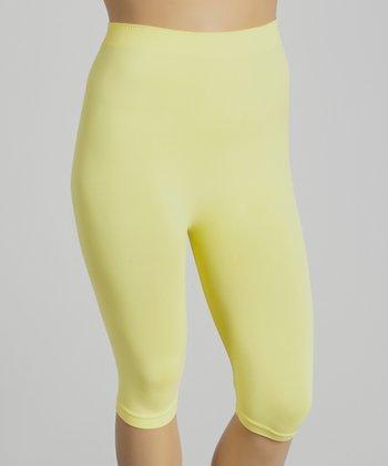 Yellow Short Leggings - Plus