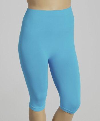 Blue Short Leggings - Plus