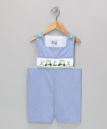 Blue Gingham Golf John Johns - Infant