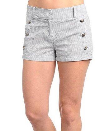 Black & White Stripe Shorts
