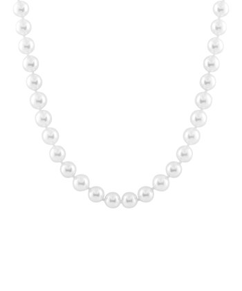 White Shell Pearl & Bead Clasp Necklace