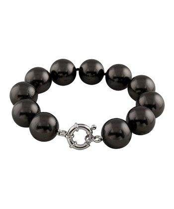 Black 14 mm Shell Pearl Bracelet