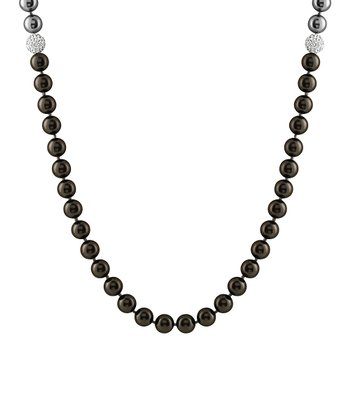 Black & Gray Endless Shell Pearl Necklace