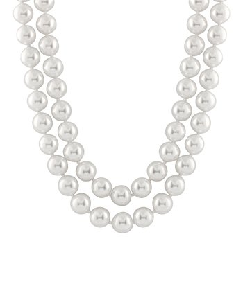 White Double Shell Pearl Necklace
