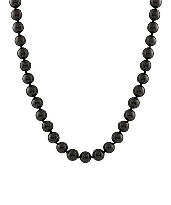 Black Petite Shell Pearl Necklace