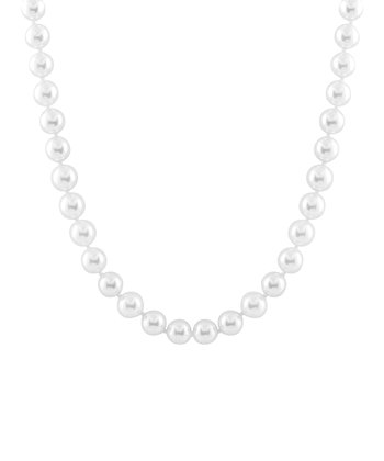 White Petite Shell Pearl Necklace