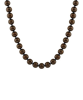 Chocolate Petite Shell Pearl Necklace