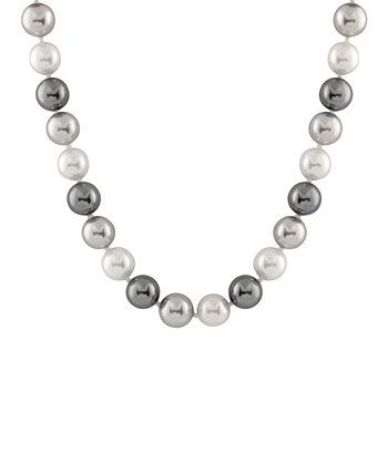 White & Gray Medium Shell Pearl Necklace