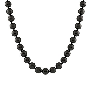 Black Large Shell Pearl Necklace