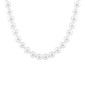 White Large Shell Pearl Necklace