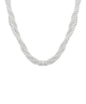 White Quad Twist Shell Pearl Necklace