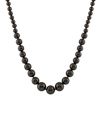 Black Graduated Shell Pearl Necklace