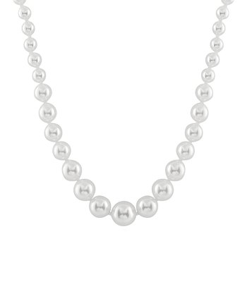 White Graduated Shell Pearl Necklace