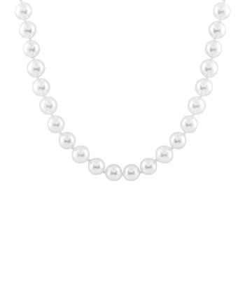 White Medium Shell Pearl Necklace