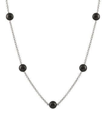 Black Tin Cup Necklace
