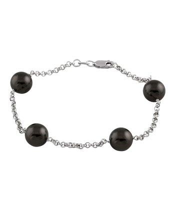 Black Tin Cup Bracelet