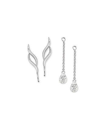 Silver Ear Pin Earrings & Enhancers