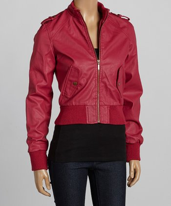 Fuchsia Bomber Jacket - Women