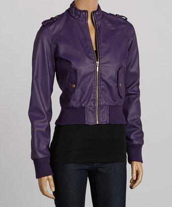 Purple Bomber Jacket - Women