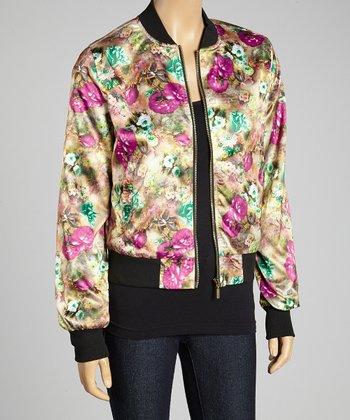 Magenta Floral Jacket - Women