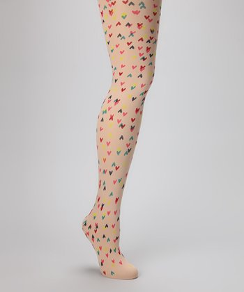 Nude Heart Opaque Tights