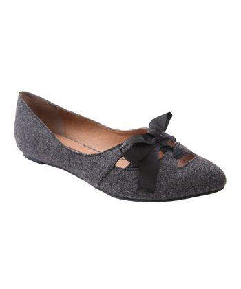 Kensie Gray Milly Cutout Flat