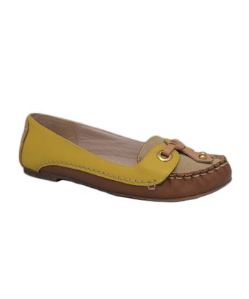 Kensie Natural Leather Riley Flat