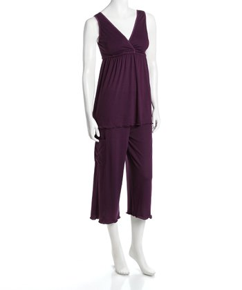 Plum Serenity Nursing Pajamas - Women & Plus