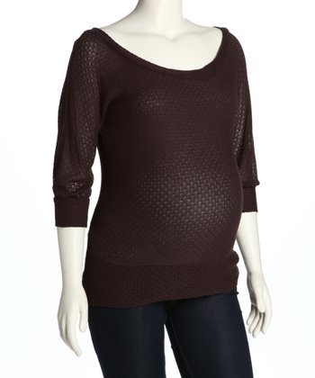 Brown Maternity Sweater