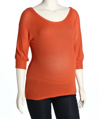 Orange Maternity Sweater