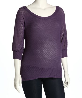 Purple Maternity Sweater