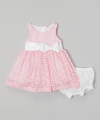 Pink Eyelet Dress & Diaper Cover - Infant