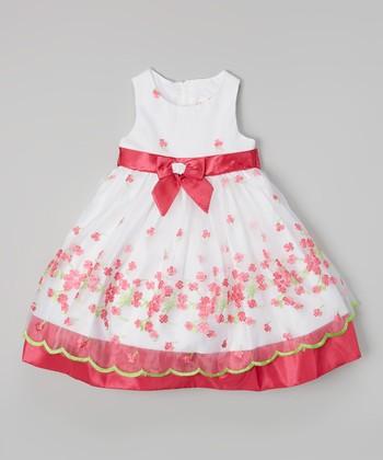 Fuchsia & Green Flower Dress - Infant, Toddler & Girls