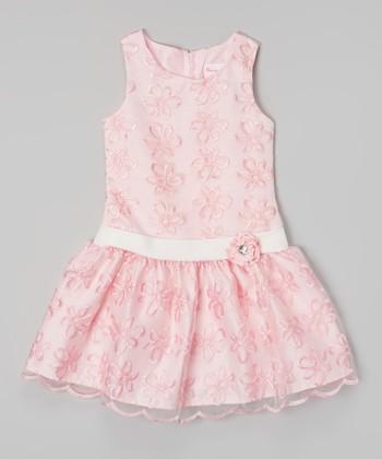 Pink & White Flower Dress - Toddler & Girls