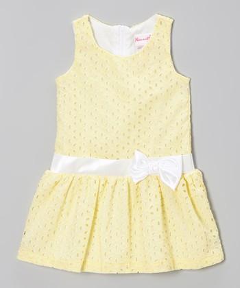 Yellow Sleeveless Eyelet Dress - Toddler & Girls