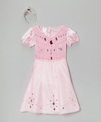 Pink Gem Princess Dress-Up Set - Girls