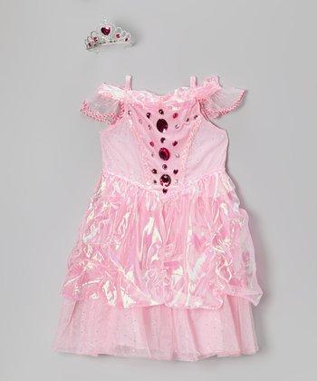 Pink Diamond Princess Dress-Up Set - Girls