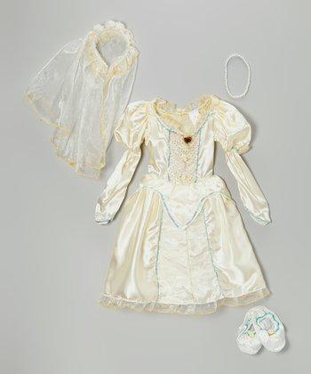 White Beautiful Bride Dress-Up Set - Girls