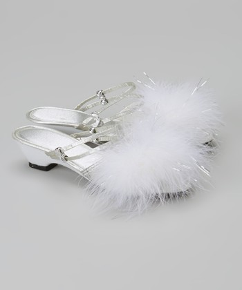 Silver Feather Shoe