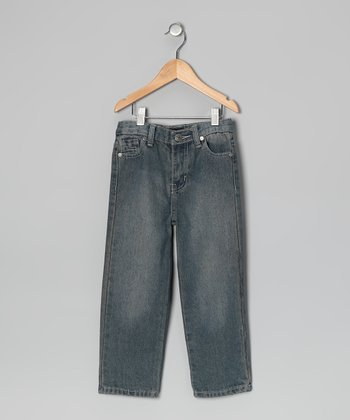 Vintage Wash Straight-Leg Jeans - Toddler & Boys