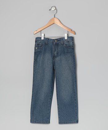 Light Wash Straight-Leg Jeans - Toddler & Boys