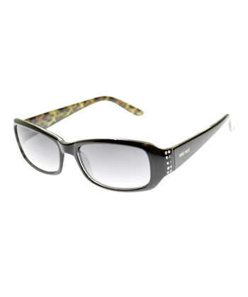 Black Leopard Rhinestone Sunglasses