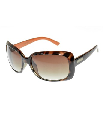 Dark Tortoise & Tan Rectangle Sunglasses