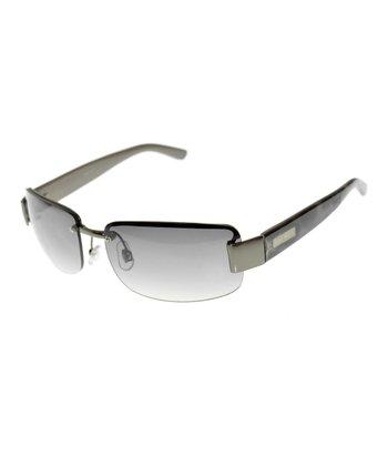 Matte Gunmetal Shield Sunglasses