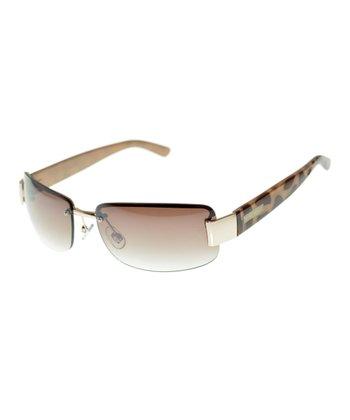 Matte Light Gold Shield Sunglasses