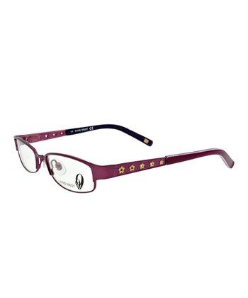 Matte Fuchsia Floral Eyeglasses