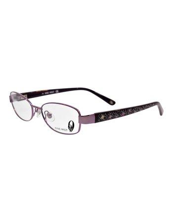 Violet Floral Eyeglasses