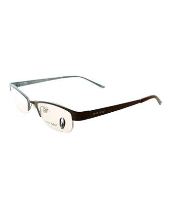 Brown Horn-Rimmed Eyeglasses