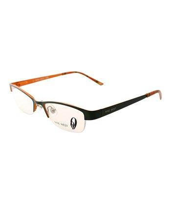 Green Horn-Rimmed Eyeglasses